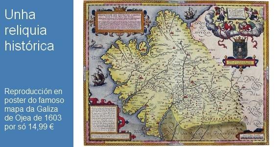 Poster: Reyno de Galizia de Fernando de Ojea 1603